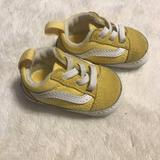 Vans Shoes | Baby Vans Yellow Crib Shoes Size 1 | Color: Yellow | Size: 1bb