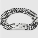 Gucci Jewelry   Gucci Ghost Chain Bracelet In Silver   Color: Silver   Size: Various