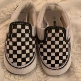 Vans Shoes | Baby Vans Slip On Crib Shoe | Color: Black/White | Size: 4bb
