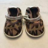 Michael Kors Shoes | Michael Kors Logo Baby Mary Jane Crib Shoes Sz 1 | Color: Brown | Size: 1bb