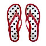 Kate Spade Shoes | Kate Spade Polka Dot Jelly Plastic Flip Flops! | Color: Black/Pink | Size: 10