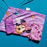 Disney Bedding | 3 Piece Minnie Mouse Toddler Bed Set Nwot | Color: Pink/Purple | Size: Toddler Bed