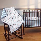 Disney Bedding | Mickey Mouse 3pc. Porta Crib Set | Color: Blue/White | Size: Porta Crib