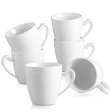 Latitude Run® Elvira Porcelain Coffee Service Mug Set, 6 Piece, 12.5Oz Ceramic in Brown/Green/White, Size 4.92 H in   Wayfair