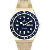 Timex 38 mm Q Timex Color Series Stainless Steel Case Gold/Blue/Gold One Size