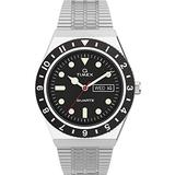 Timex 38 mm Q Timex Color Series Stainless Steel Case Silver/Black/Silver One Size