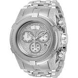 Invicta Men's 32783 Reserve Quartz Chronograph Silver, White Dial Watch