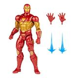 Hasbro Marvel Legends Series 6-inch Modular Iron Man Action Figure Toy, Includes 4 Accessories and 1 Build-A-Figure Part, Premium Design and Articulation
