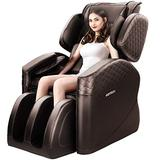 OOTORI Massage Chair, Massage Chairs Full Body and Recliner, Zero Gravity Massage Chair, Airbags Shiatsu Massage Chair Recliner with Lower Back Heat, Foot Rollers and Bluetooth (Brown)