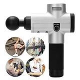 Percussion Massager, Mirrors With 4 Heads Mirrors Handheld Muscle Deep Tissue Massager Percussion