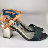Coach Shoes | Coach Chunky Heeled Strappy Sandals Size 6.5 | Color: Black | Size: 6.5