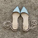 J. Crew Shoes | J Crew Sparkle Lace Up Sandal | Color: Cream/Silver | Size: 8
