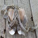 Coach Shoes   Coach Platform Sandals With Ribbon Tie   Color: Black/White   Size: 8.5