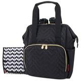 Fisher-Price Emerson Diaper Backpack, Black
