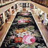 YUXO Hallway Runners Floral Runner Rugs Jacquard Throw Carpet Contemporary Printed Mat for Hallway Entryway Modern Home Dector Multi Style (Color : T04, Size : 0.6X3m)