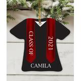 GiftsForYouNow Ornaments Black - Black & Red 'Class of' Graduation Gown Personalized Ornament