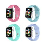 Tech Zebra Replacement Bands Dark - Teal & Lavender Assorted Four-Piece Band Replacement for Apple Watch Set