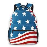 American Flag School Bag Laptop Backpacks for Boys Teen Girls Kids Women Men, Personalized Hiking Backpack Backpack Purse School Supplies Multifunctional Large Storage for School Travel, Work