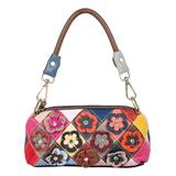 Caerlif Women's Handbags multicolor - Multicolor Floral Quilted Leather Satchel