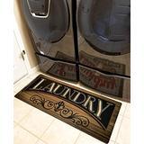 Ukeler Non Slip Laundry Room Rug and Mats Durable and Waterproof Laundry Room Runner Rug Floor Mat, 20''×48''