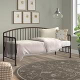Charlton Home® Jannery Twin Metal Daybed Upholstered in Brown, Size 40.25 H x 32.25 W x 82.0 D in | Wayfair F746E8B4F4484A7799E2DB36C7EA2005