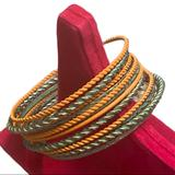 Anthropologie Jewelry   Anthro Bangles Bracelet Lot Jewelry Classic Set   Color: Red   Size: Os