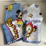 Disney Bedding | 90s 4 Pc Mickey Mouse Sleeping Twin Bed Sheets | Color: Tan | Size: Twin