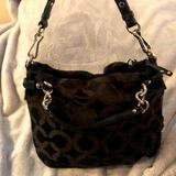 Coach Bags   Black Coach Shoulder Bag   Color: Black   Size: 10 Inches High. 10 Inches Across.