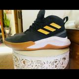 Adidas Shoes | Adidas Black And Gold Sneakers Barely Worn Sz8.5 | Color: Black/Gold | Size: 8.5