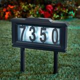 Solar Light House Number Plaque by BrylaneHome in Black