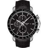 V8 Automatic Chronograph Leather Strap Watch - Black - Tissot Watches
