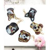 HC Craft Kits Multi-color - Brown & Black Dogs Rhinestone Painting Key Chain Kit - Set of Five