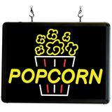"Winco 92001 LED Hanging ""Popcorn"" Sign w/ 3 ft Chains - Aluminum Frame, 120v"