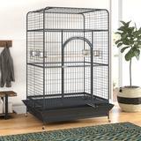 Tucker Murphy Pet™ Briceno Macaw Cage w/ Caster Steel in Black/Gray, Size 78.25 H x 36.0 W x 46.0 D in | Wayfair 20BEF92F6E254CA783460A9916620B82