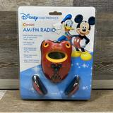 Disney Other | Disney Electronics Classic Am Fm Portable Radio | Color: Red/Yellow | Size: Os