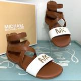 Michael Kors Shoes   Michael Kors Girls Fashion Sandals Size 1   Color: Brown/White   Size: 1bb