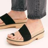 Free People Shoes | Free People Azure Footbed Sandals | Color: Black | Size: 7
