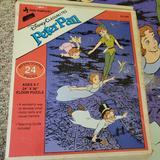 Disney Games | 2$15 1991 Peter Pan Floor Puzzle 24x36 In Disney | Color: Blue | Size: 24 X 36