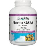 """""""Stress-Relax Pharma GABA 100 mg, 120 Chewable Tablets, Natural Factors"""""""
