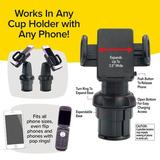BulbHead Call Cup Holder Phone Holder Accessory in Black, Size 10.2 H x 6.1 W x 3.5 D in | Wayfair 13942