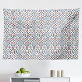 East Urban Home Ambesonne Ottoman Tapestry, Turkish Traditional Ceramic Tulip Patterns w/ Cultural Ottoman Royal Lines Design in Gray/Black   Wayfair