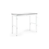 """NewAge Products Pro Series 72""""W Adjustable Height Steel Workbench in Gray/White, Size 43.0 H x 24.0 D in 