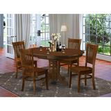 Charlton Home® Dufferin 5 - Piece Butterfly Leaf Rubberwood Solid Wood Dining Set Wood in Brown, Size 30.0 H in | Wayfair