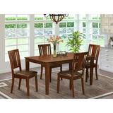 Winston Porter Alingtons 5 - Piece Rubberwood Solid Wood Dining Set Wood in Brown, Size 30.0 H in | Wayfair 35EA26C0401C49E39C07D378E75F6248