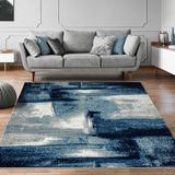 Orren Ellis Alayha Abstract Navy Area Rug Polypropylene in Blue/Navy, Size 108.0 H x 72.0 W x 0.5 D in | Wayfair D1A3050AB90E4E28A56A3901ACD421E1