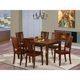 Red Barrel Studio® Jalicia 7 - Piece Rubberwood Solid Wood Dining Set Wood in Brown, Size 29.0 H in | Wayfair 48AF778FD69A44709E704BBE72D68A56