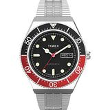 Timex 40 mm M79 Automatic Stainless Steel Case Black Dial Stainless Steel Band Silver/Black/Silver One Size
