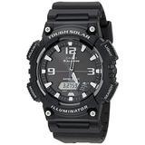 Casio Men's Tough (Solar Powered) Japanese-Quartz Watch with Resin Strap, Black, 28 (Model: AQ-S810W-1AVCF)