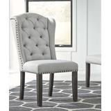 Signature Design by Ashley Furniture Dining Chairs Linen - Light Gray Tufted Jeanette Upholstered Dining Chair - Set of 2