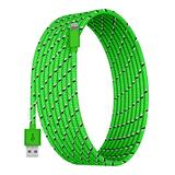 Tech Zebra Lightning Cables Green - Green 10-Foot Charging Cable For Lightning